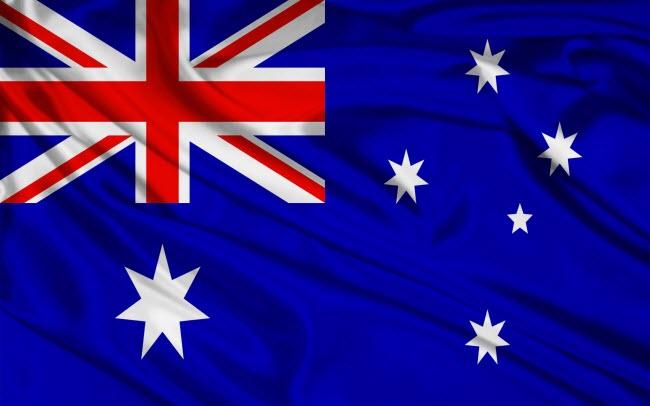 крупнейшие компании Австралии на фоне флага страны