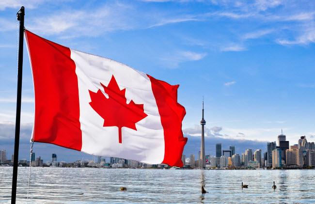 крупнейшие компании Канады - иллюстрация статьи в виде флага Канады