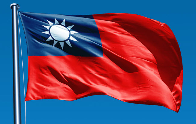 Крупнейшие компании Тайваня - на фоне флага Тайваня
