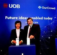 совместная пресс-конференция UOB и израильского стартапа OurCrowd по итогам продажи доли сингапурскому банку