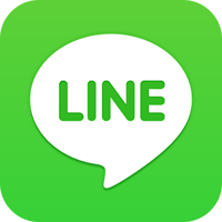 логотип мобильного приложения LINE, которое чрезвычайно популярно в Азии среди молодежи