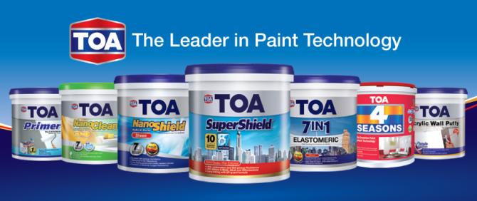 продукция TOA Paint (Thailand), крупнейшего тайского производителя декоративных красок и покрытий