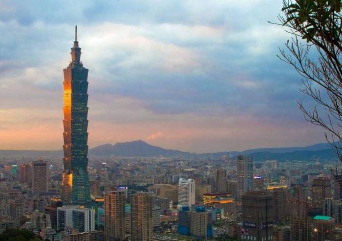 Вид на Тайбэй, столицу Тайваня