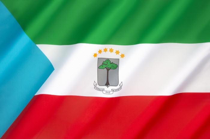 Экваториальная Гвинея - национальный флаг африканского государства